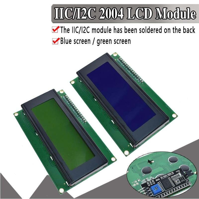 EQV CII/I2C/TWI 2004 serie azul verde retroiluminación LCD módulo para Arduino UNO R3 MEGA2560 20X4 LCD2004