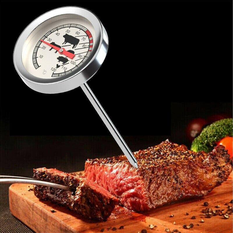 термометры для воды Термометр из нержавеющей стали с мгновенным считыванием, для барбекю, еды, для приготовления мяса, бытовые термометры