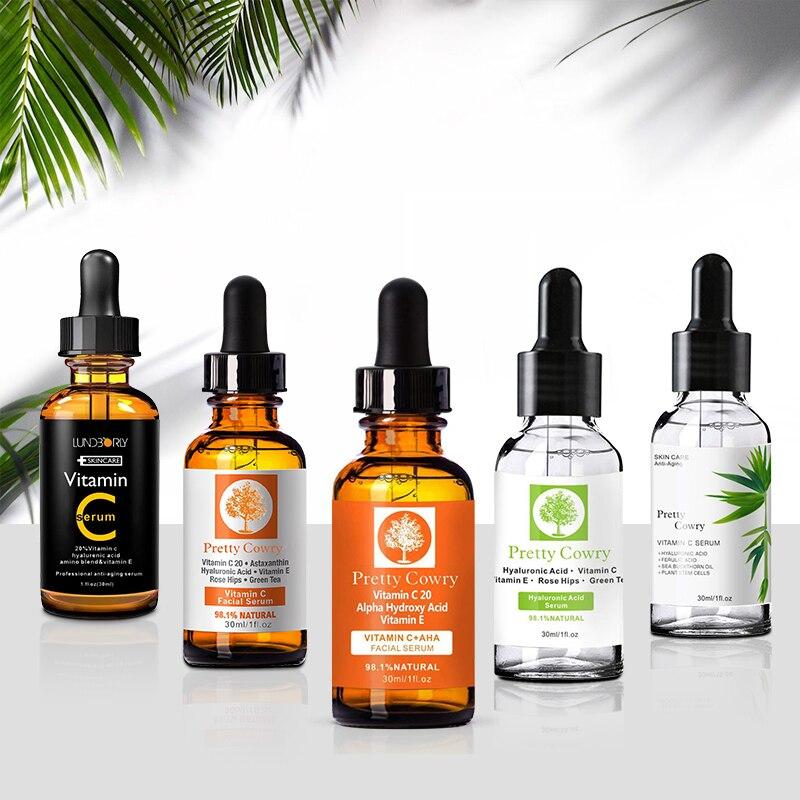 5PCS/Set firming anti-wrinkle anti-aging 30ml Facial repair retinol serum vitamin c