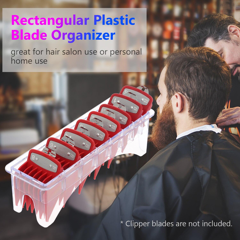 1PC מקרה גבול מדריך קומבס מלבני קופסא פלסטיק להב ארגונית עבור 8 להבים אחסון מקרה מתלה קליפר מסרק מחזיק