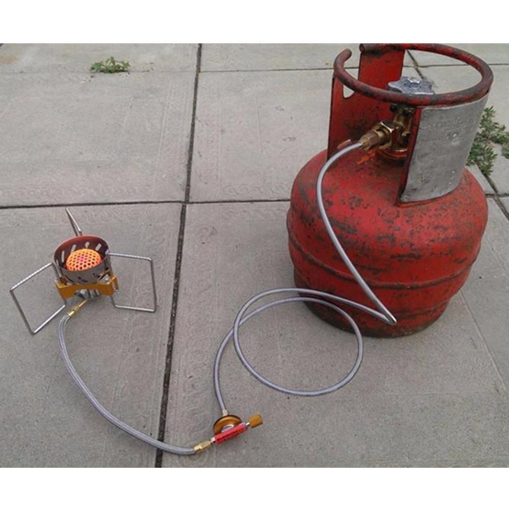 Acampamento ao ar livre fogão a gás e gás liquefeito adaptador queimador lpg acoplador conector para a rússia, ucrânia, alemanha, cazaquistão