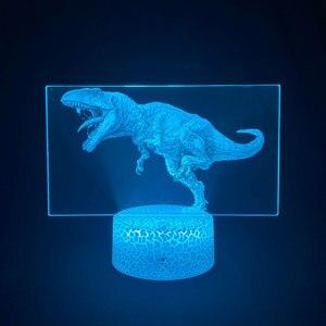 Мерцающая тираннозавр, 3D лампа с изображением, акриловый динамик с Bluetooth, украшение комнаты, Подростковая цветная лампа с USB, праздничный подарок