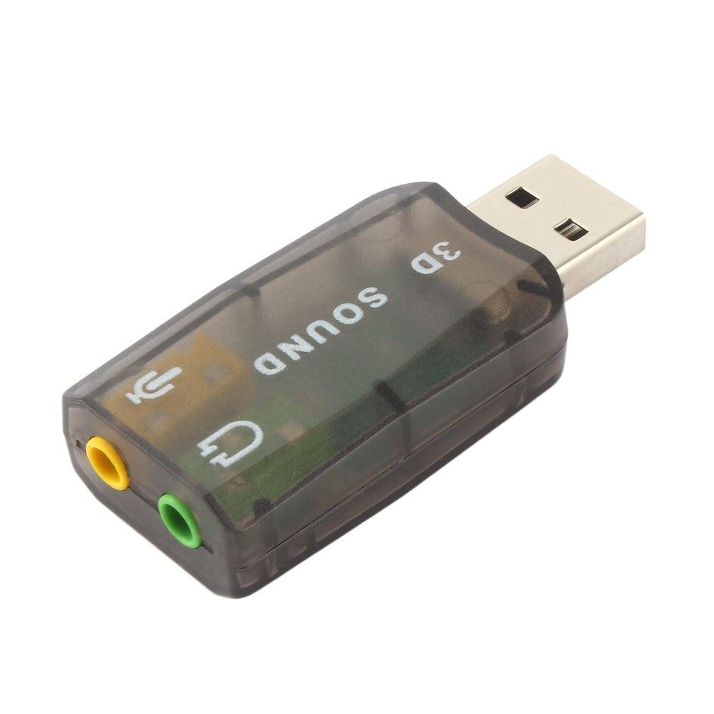 Adaptateur Audio fiable carte son 3D 5.1 USB à 3.5mm micro prise casque stéréo prise en charge du son 3D