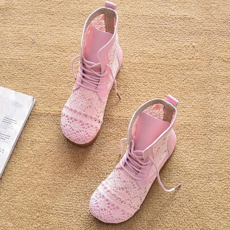 2021 الصيف أحذية حريمي برقبة الوردي الأبيض الحلو السيدات حذاء من الجلد أحذية الصيف امرأة غير رسمية عالية أعلى A2390