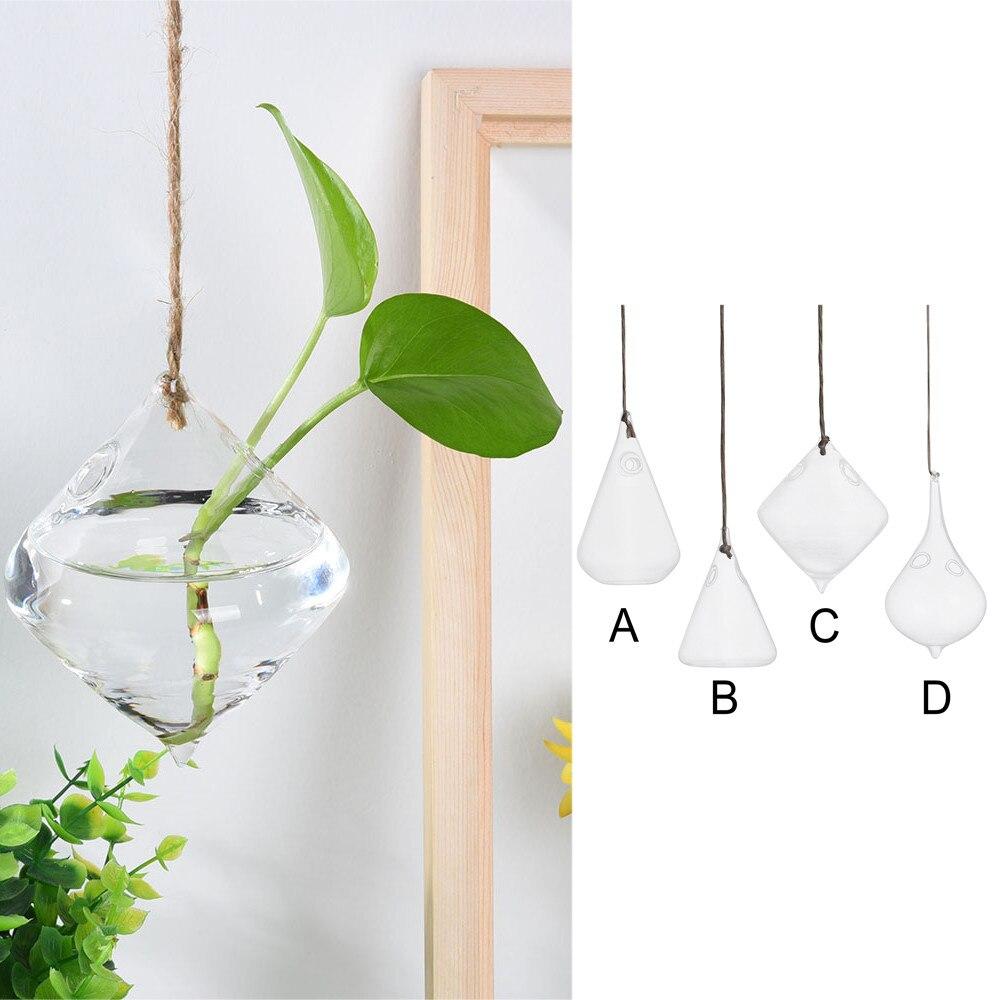 Terrario, forma de globo, florero de cristal transparente colgante, maceta, maceta, pared, tanque de peces, recipiente acuario, decoración how 3