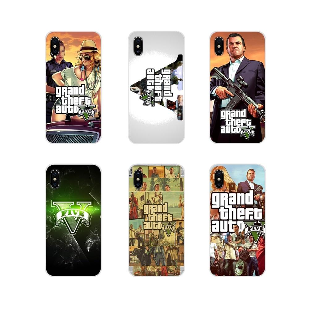 Accesorios de la cáscara del teléfono cubre robo de Auto GTA V para Samsung A10 A30 A40 A50 A60 A70 M30 Galaxy nota 2 3 4 5 8 9 10