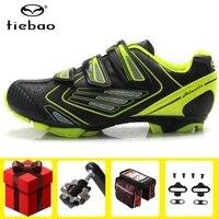 tiebao sapatilha ciclismo mtb cycling shoes men add spd pedal set mountain bike sneakers women nylon fiberglass athletic shoes
