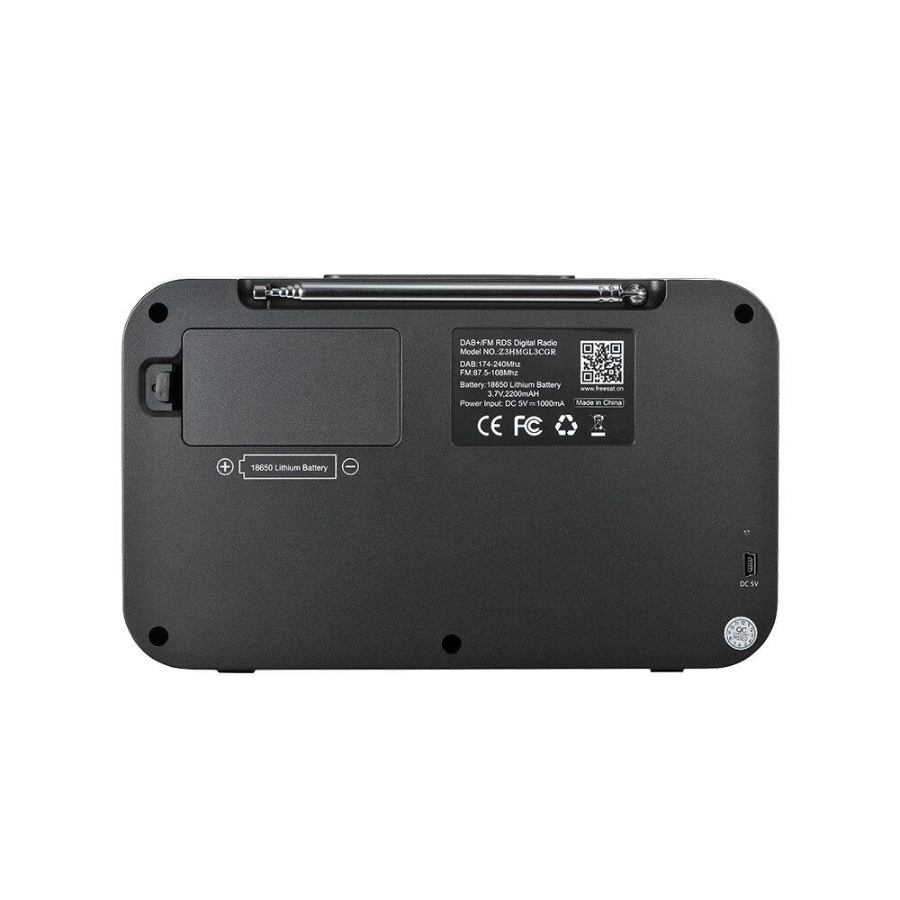 GTMEDIA Z3B Z3 Digital Receiver Portable DAB+ Stereo Radio Receptor With 2.4 Inch TFT Display Bluetooth Alarm Clock enlarge