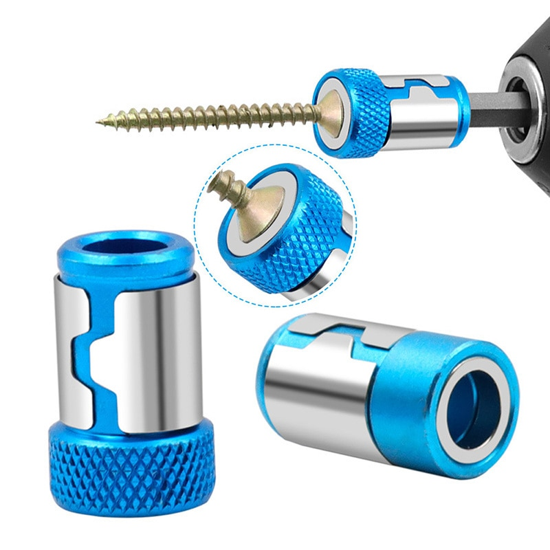 Universal Magnetic Ring Metal Screwdriver Bit Magnetic Ring Alloy Steel Shank Anti-Corrosion Drill Bit Magnet Ring