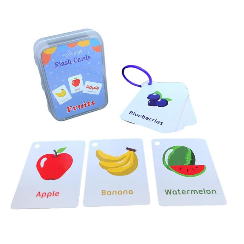 Number Memory Training Early Learning English Flash Card Fruit Alphabet Shapes Pattern Learning Educational Toy Baby Kids Gift multifunction educational learning machine english early tablet computer toy kid interactive toy training