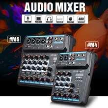 LEORY M6 Bluetooth DJ Mic Audio Mixer Contrl Digital Display Musik Stream 48V Phantom Power Protable Karaoke Spieler KTV party