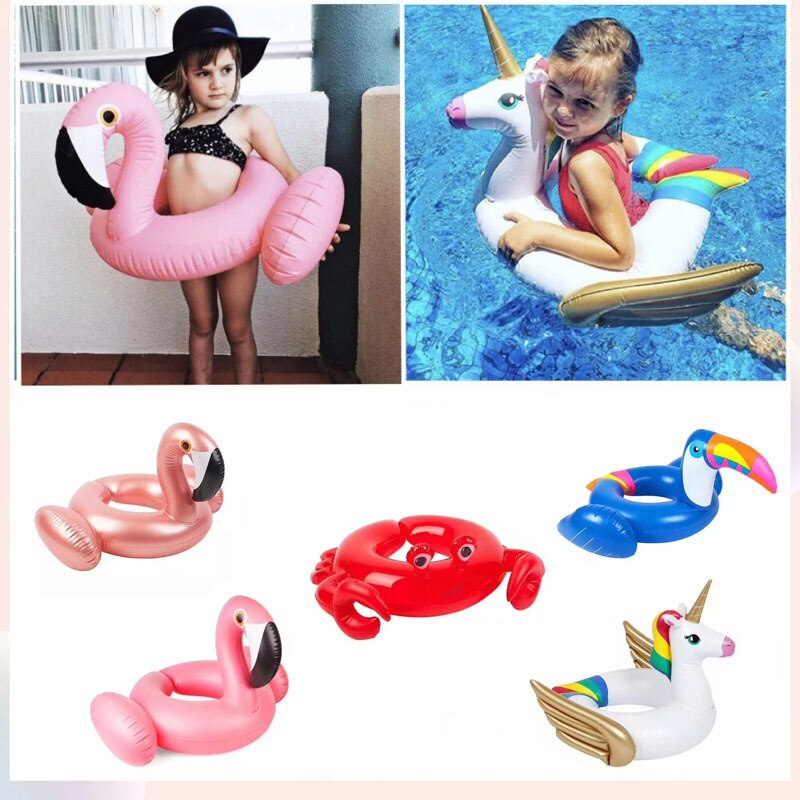 Inflatable Swimming Ring Lounge Pool Float Mattres Swimming Circle Life Buoy Raft Kid Swimming Water Pool Toys