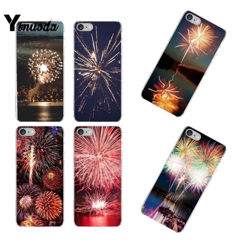Yinuoda hermosa fuegos artificiales Coque caja del teléfono Shell para iPhone 12 8 7 6 6S Plus X XS X MAX 5 5S SE XR 11 12 pro promax