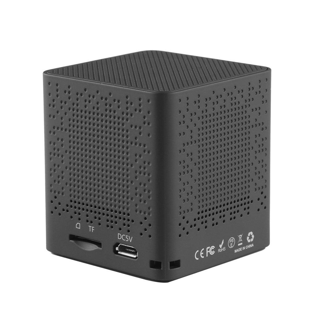 LESHP-altavoz portátil BM13 Black Square de 20HZ a 20KHZ, altavoz inalámbrico V3.0 con batería de 3,7 V/800mAh incorporada