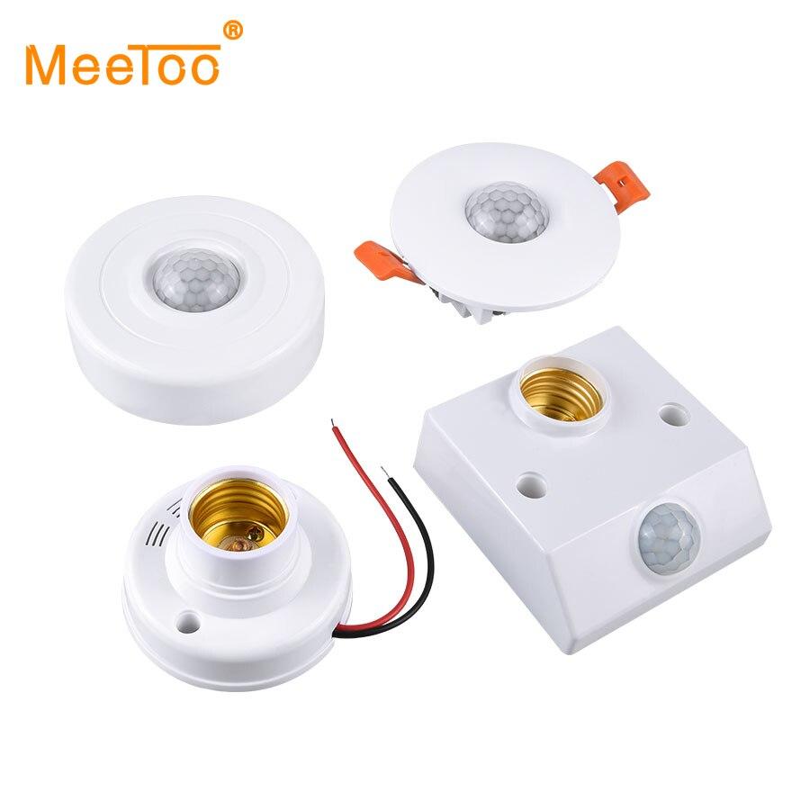 Sound Licht Schalter PIR Motion Sensor Smart Switch E27 220V 110V AC Auto Auf/Off Licht Lampe halter Decke Sensor Detektor Modul