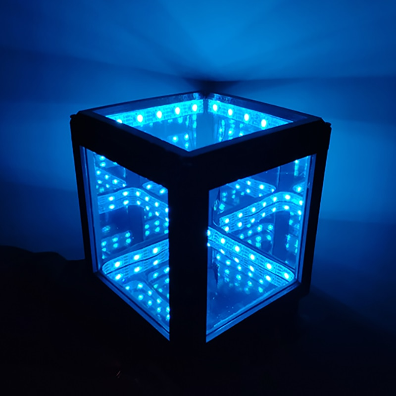 Mindyn Electronics Led Infinite Hypercube Mirror Lamp Bedroom Decoration Gifts