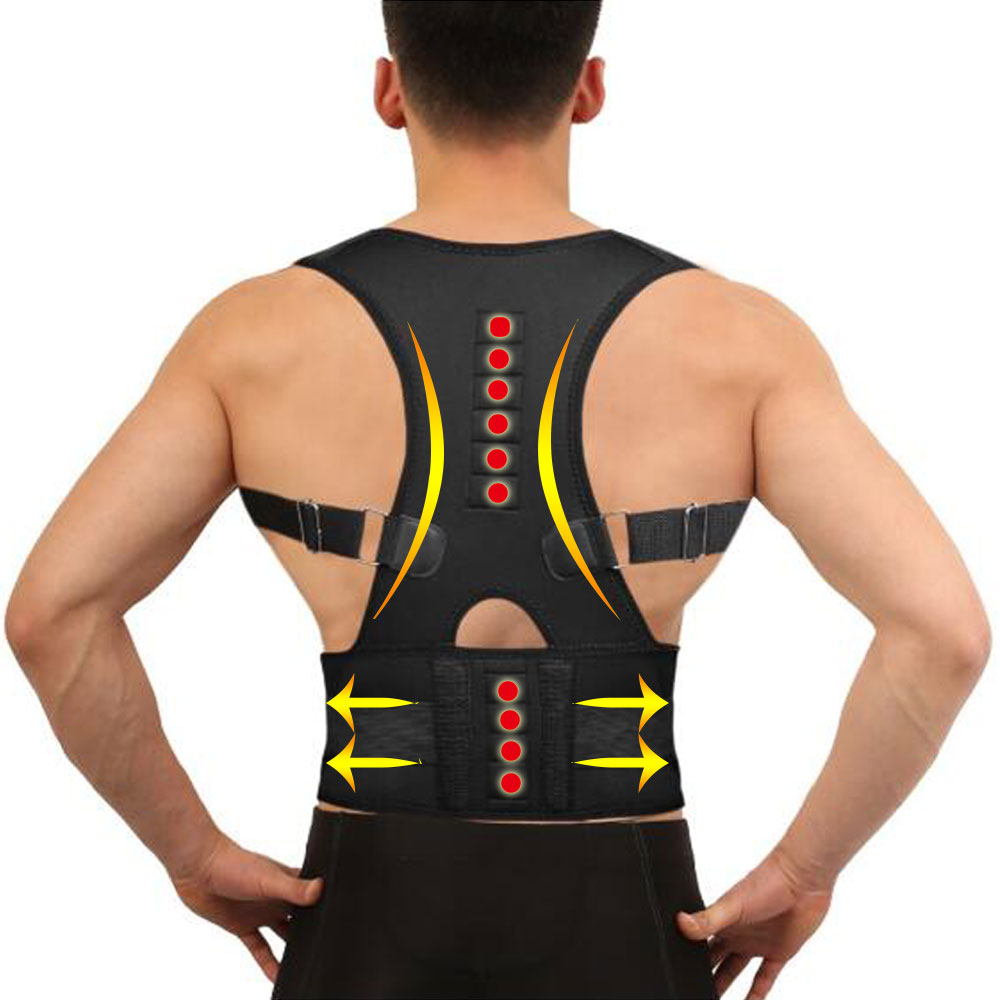 Winter Invisible Orthopedic Magnetic Therapy Back Support Belt Posture Corrector Shoulder Spine Gird