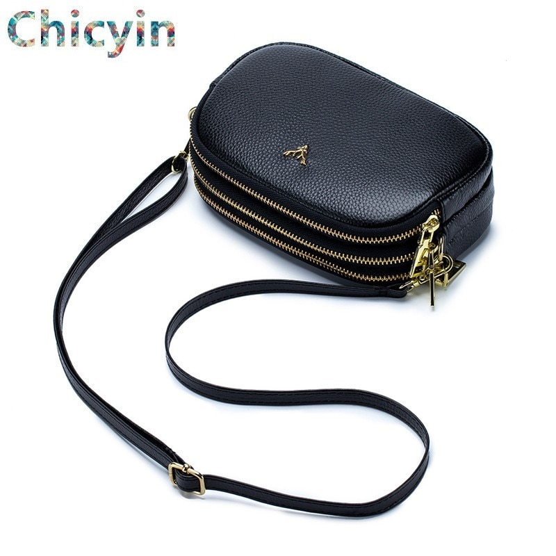 Genuine Leather Crossbody Bag High Quality Clutch Bag Style Fashion Trend Women Handbag Messenger Bag Dual Purpose Leisure Bag