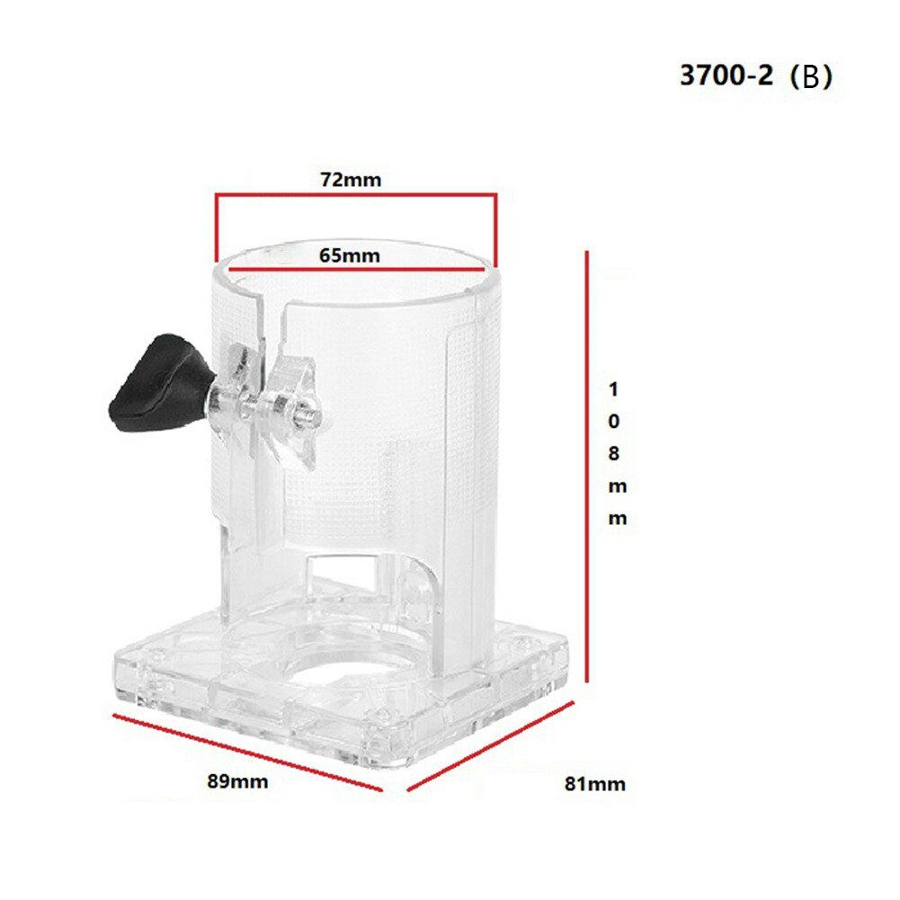 Power Tool Accessories Trimming Machine Transparent Cover Base 3703 Complete Woodworking Trimming Machine Accessories