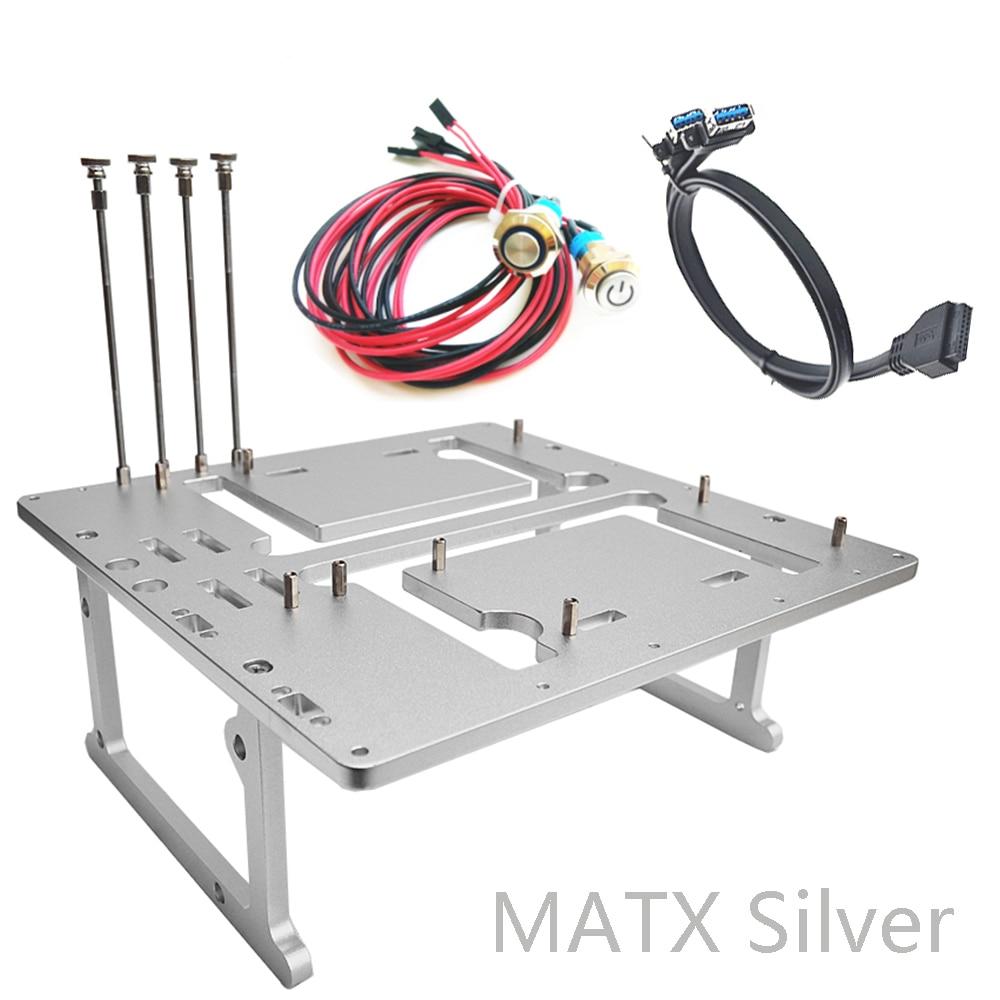 Open Air Test Bench PC Case Mini ITX MATX ATX PC Frame USB 3.0 Water Cooling Fan DIY Mod Overclocking HTPC NAS Graphics Card