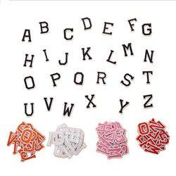26 pclarge tamanho inglês alfabeto carta bordado remendos quente derretimento adesivo costurar na marca pano acessórios adesivos nome remendos
