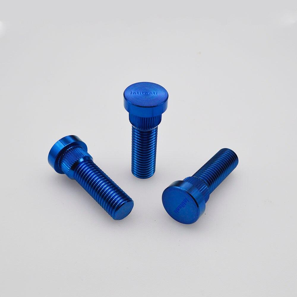 Perno de rueda de titanio Gr5 azul de alta resistencia para corona Toyota