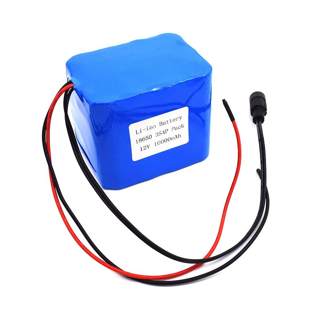 OEM elektryczne baterie rowerowe 12V 10AH 3S4P 18650 litowy akumulator o wysokiej częstotliwości z ładowarką BMS 12V