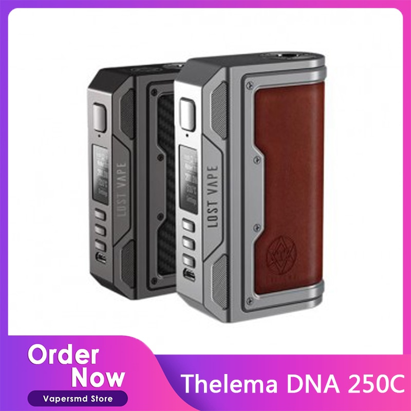Lost Vape Thelema DNA 250C Box Mod Powered By 18650 Battery Max 200W output DNA Chip Mod For E-Cigar
