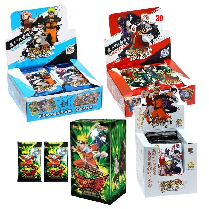 100-180PCS Japanese Shippuden Hinata Sasuke Itachi Kakashi Gaara Toys Hobbies Hobby Collectibles Game Collection Anime Cards 2021 new japanese uchiha sasuke uchiha american version hobby collectibles memorial game anime collection cards