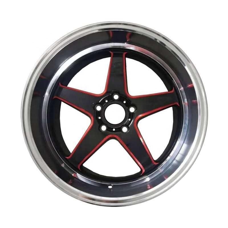 Black alloy car rims,18X9.5J 18X10.5J 5 holes 5X114.3 car alloy wheels