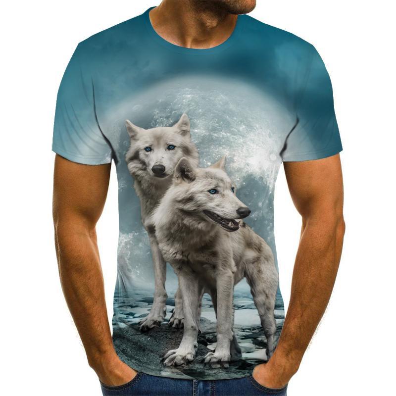 T Shirt Short Sleeve Boy/girl/kids Top Tees Men T-shirt Funny Wolf TShirt Shirt t t flynn hunted wolf