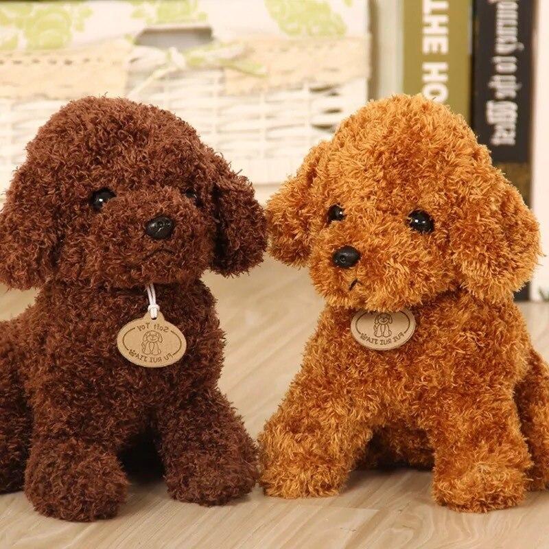 Cão de pelúcia brinquedos captura máquina boneca vestir poodle boneca cão macio dos desenhos animados ponto brinquedos de pelúcia crianças brinquedo de pelúcia para presentes