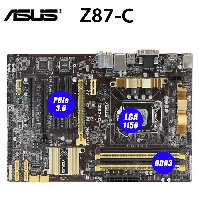Asus Z87 C Placa base LGA 1150 Intel i7 i5 i3 32GB...