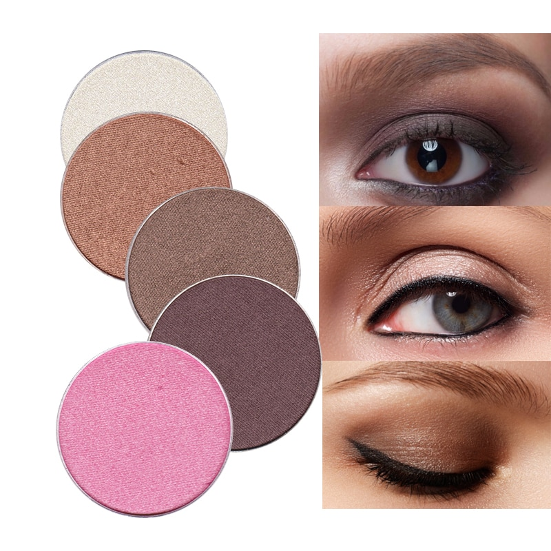 Feelwell 26mm 1,8g brillo mate sombra de ojos polvo pigmento impermeable Natural maquillaje marca belleza cosmética