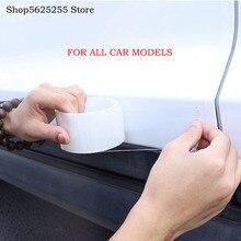 Auto Instaplijsten Strip Anti-Stepping Bumper Onzichtbare Transparante Beschermende Film Deur Rand Crash Strip Voor Mazda CX3 CX-3 2016-2019