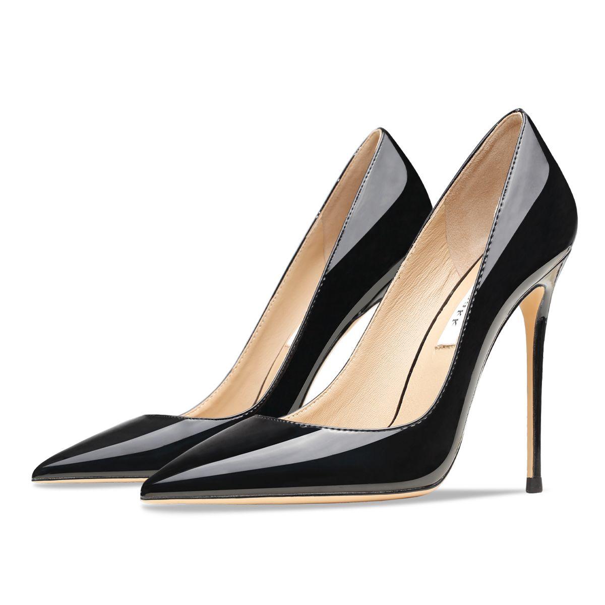 Туфли-лодочки-женские-на-высоком-тонком-каблуке-с-острым-носком