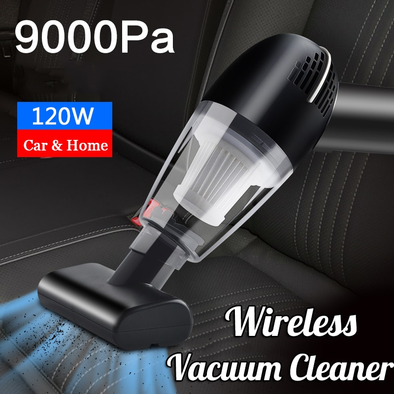 Ручной беспроводной автомобильный пылесос, 9000 па, мощный всасывающий беспроводной мини-пылесос для автомобиля и дома, портативный пылесос ...