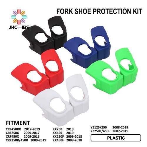Motocicleta tenedor Shock zapato guardia Kit de protección para HONDA CRF450RX 250X 450X 250R 450R KX250 450 250F YZ125 YZ250 YZ250F YZ450F
