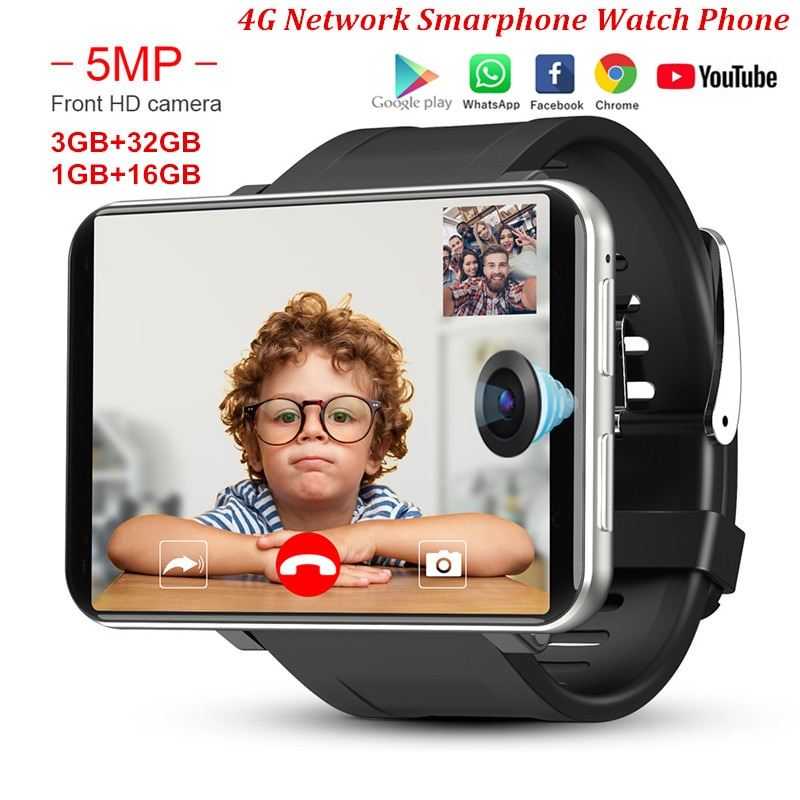 Review DM100 4G 2.86 Inch Screen Smart Watch Android 7.1 OS Phone 3 GB 32GB 5MP Camera 480*640 Ips Screen 2700mah Battery Smartwatch