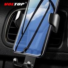Support en cuir pour téléphone   Universel, sortie dair pour téléphone portable, Support de Navigation pour téléphone, fournitures Auto, accessoires de voiture