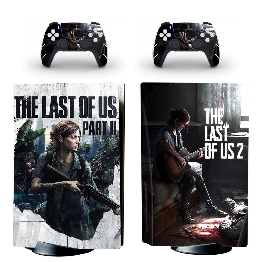 آخر من الولايات المتحدة PS5 القياسية القرص طبعة الجلد ملصق غطاء لصائق ل بلاي ستيشن 5 وحدة التحكم و تحكم PS5 الجلد ملصق الفينيل