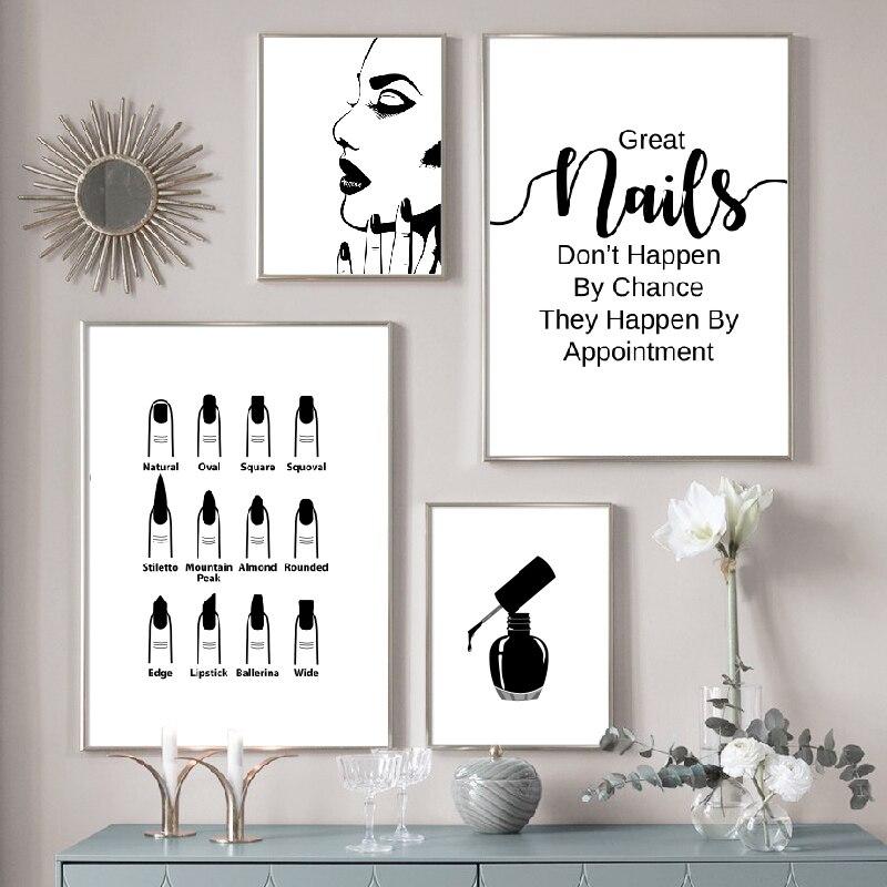 Nail Salon Wall Decoration Beauty Salon Wall Art Canvas Painting Nail Polish Quote Posters and Prints Nail Tech Artist Gift