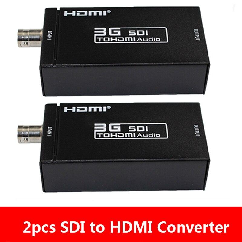 2 قطعة 1080P HD-SDI SDI فيديو محول محول SDI إلى HDMI محول محول للكاميرا الاتحاد الأوروبي/الولايات المتحدة التوصيل