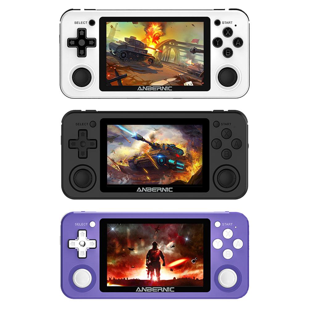 وحدة تحكم للألعاب محمولة الاهتزاز تدعم GB GBC NDS PSP PS1 شاشة 3.5 بوصة مشغل ألعاب ريترو مع بطاقة TF