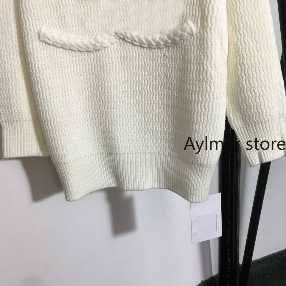 High quality 2021 autumn winter new temperament women's Jacquard round neck top fashion long sleeve Pullover knitted sweater enlarge
