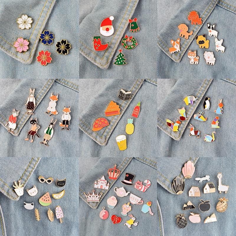 Miss Zoe 4 ~ 14 pièces/ensemble dessin animé émail broches ensemble conte de fées broches Denim manteau sac à dos épinglette Badge mignon Animal bijoux cadeau