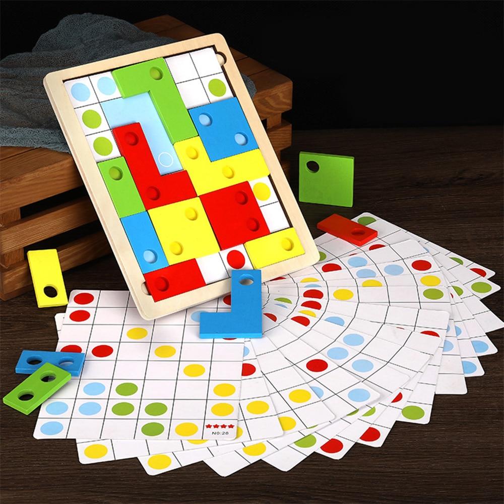 Логическое мышление головоломка интересная деревянная игра математика игрушка Раннее Образование Игрушки для развития интеллекта детей