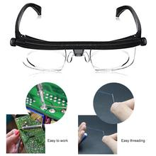 Men/Women Adjustable Strength Lens Eyewear Variable Focus Distance Vision Zoom Glasses Protective Magnifying Glasses w/ Bag