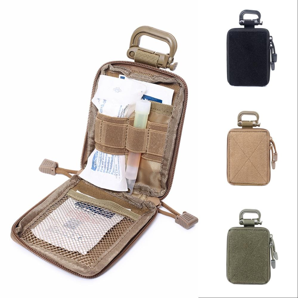 Utility Tactical Molle Medical Pouch Organizer Military Army First Aid Kit Small Travel Hunting Waist Belt Pack Survival EDC Bag military molle admin pouch tactical multi medical kit bag utility tool belt edc pouch for camping hiking hunting 2018