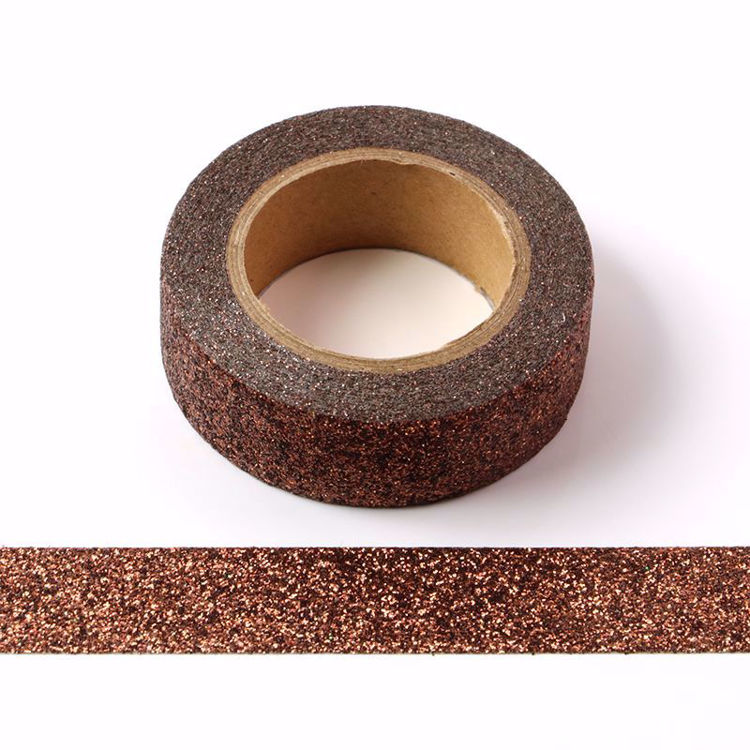 10pcs/Lot Brown powder Washi Tape Glitter Japanese Stationery 15mm* 5meter Kawaii Paper Scrapbooking Tools Decorative Tape Mask